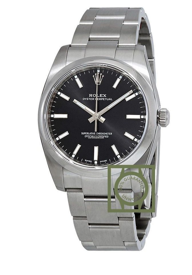 Rolex Oyster Perpetual 34 Mm Black Dial For 5 328 For Sale From A