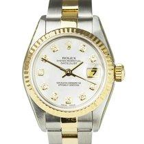 Rolex Lady-Datejust Gold/Stahl 26mm Champagnerfarben