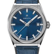Zenith Titanio Automático Azul Sin cifras 41mm nuevo Defy
