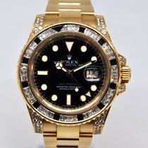 Rolex 116758SANR Or jaune 2008 GMT-Master II 40mm occasion