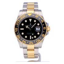 Rolex GMT-Master II tweedehands 40mm Zwart Datum GMT Goud/Staal