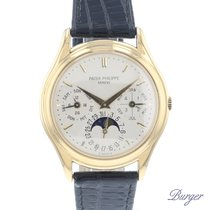Patek Philippe Perpetual Calendar Yellow gold 36mm Silver Roman numerals