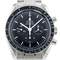 Omega Steel Manual winding Black 42mm pre-owned Speedmaster Professional Moonwatch