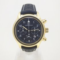 IWC Geelgoud Quartz 36mm tweedehands Pilot Chronograph
