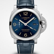Panerai Luminor 1950 3 Days GMT Automatic Stål 44mm Blå