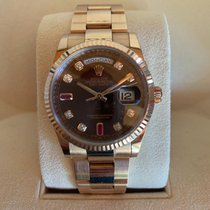 Rolex Day-Date 36 Or rose 36mm Noir Sans chiffres France, Paris