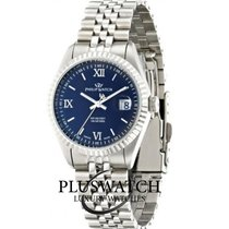 Philip Watch Caribe Steel 39mm Blue Roman numerals