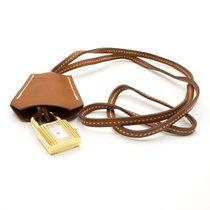 Hermès neu Quarz 20mm Gold/Stahl Saphirglas