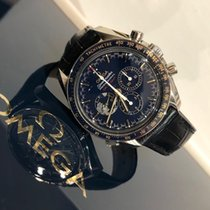 Omega Speedmaster Professional Moonwatch Steel 42mm Blue No numerals