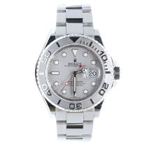 Rolex Yacht-Master 40 pre-owned 40mm Silver Date Steel