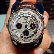 Girard Perregaux Mundial temporizador WW TC de plata esfera de...