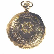Elgin Antique Pocket Watch 14K Tri-Color Gold Hunter 16 Size