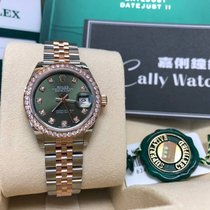Rolex Cally - New 2017 28mm Datejust 279381RBR-G Olive Green 綠鑽石