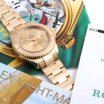 Rolex 18K Yellow Gold Yacht-Master Champ Dial - w/ Box & Papers