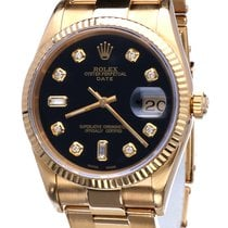 Rolex Oyster Perpetual Date Yellow Gold 34 mm (Full Set 1993)