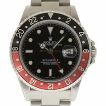 Rolex GMT Master II Stainless Steel 16710 Coke 2007 No Holes...