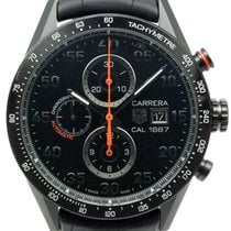 TAG Heuer 43mm Remontage automatique occasion Carrera Calibre 1887 Noir