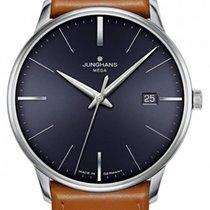 Junghans Meister MEGA neu Quarz Uhr mit Original-Box und Original-Papieren 058/4801.00