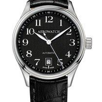 Aerowatch Les Grandes Classiques Steel 39,00mm Black Arabic numerals