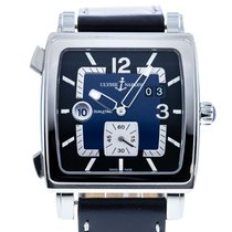 Ulysse Nardin Quadrato Dual Time pre-owned 42mm Blue Leather