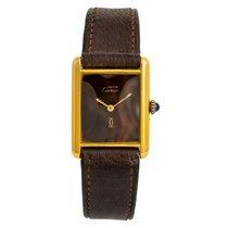 Cartier Tank Vermeil Yellow gold 24mm Brown No numerals