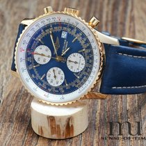 Breitling Yellow gold Automatic Blue 42mm pre-owned Old Navitimer