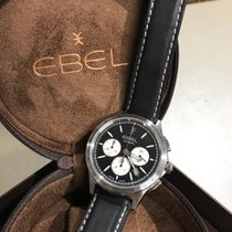 Ebel Wave Steel 40mm Black No numerals