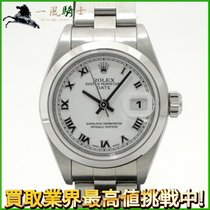 Rolex Oyster Perpetual Lady Date Staal 26mm Wit