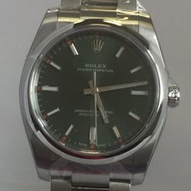 Rolex Oyster Perpetual 34 Acero 34mm Verde Sin cifras