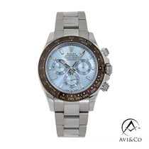 Rolex Daytona Platinum 40mm Blue No numerals