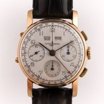 Ulysse Nardin Red gold Manual winding Silver Arabic numerals 35mm pre-owned
