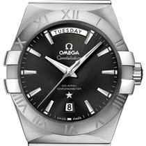 Omega Constellation Day-Date Steel 38mm Black Roman numerals