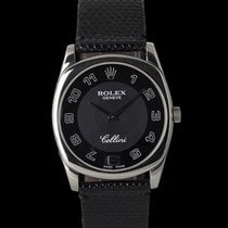 Rolex Cellini Danaos Oro blanco 39mm Negro