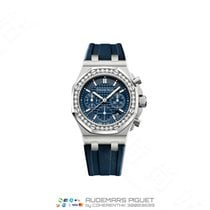 Audemars Piguet Royal Oak Offshore Lady Stahl 37mm Blau Keine Ziffern