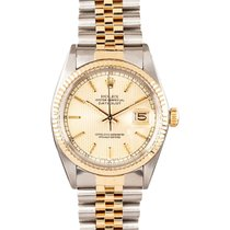 Rolex 16013_used_champagne_tapestry_stick Datejust 36mm in...