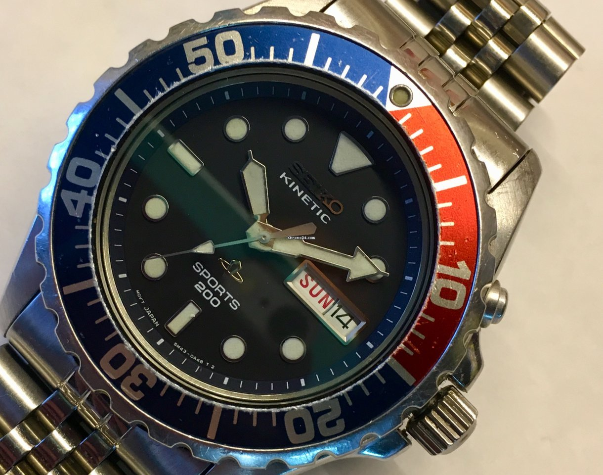 Seiko seiko kinetic 200m diver 5m43 0a40 skj003p also see smy003p sold on chrono24 for Jaeger lecoultre kinetic