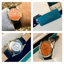 Omega Men's Seamaster Orange Dial Automatic vintage watch + Box