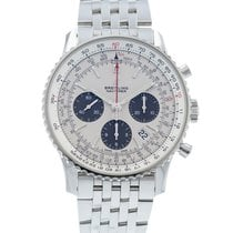 Breitling Steel Automatic Silver 43mm pre-owned Navitimer 1 B01 Chronograph 43