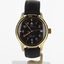 IWC Yellow gold Automatic Black 36mm pre-owned Pilot Mark