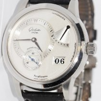 Glashütte Original PanoReserve pre-owned 39mm Silver Leather