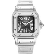 Cartier Santos (submodel) Steel 24mm Grey Roman numerals