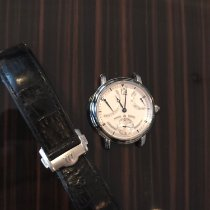 Maurice Lacroix pre-owned Manual winding 43mm Silver Sapphire Glass