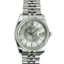Rolex Zilver Zilver 36mm tweedehands Datejust
