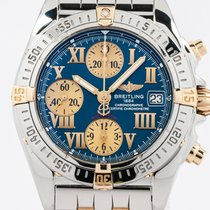 Breitling Chrono Cockpit Gold/Steel 39mm Blue Roman numerals United States of America, New York, Greenvale