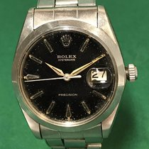 Rolex 6694 Oyster Date Precision Black Gilt Dial with SS Bracelet