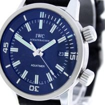 IWC Aquatimer Automatic Stahl Schwarz Keine Ziffern