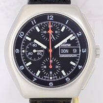 Tutima BUND Military Chronograph Stahl Lemania 5100 Fliegeruhr