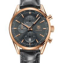 TAG Heuer Red gold Automatic Grey 41mm new Carrera Calibre 1887