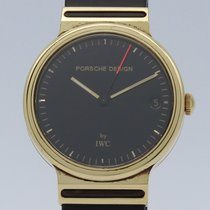 IWC Ouro amarelo Quartzo Preto Sem números 31mm usado Porsche Design