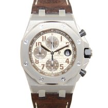 愛彼 Royal Oak Offshore Stainless Steel White Automatic 26470ST....